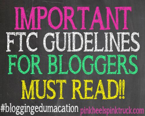 #bloggingedumacation - FTC Guidelines