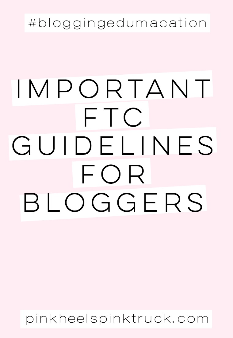 Did you know that bloggers are regulated by the FTC? YOU definitely need to educate yourself! Read these Important FTC Guidelines for Bloggers