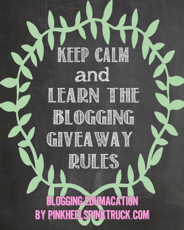 #bloggingedumacation: Blog Giveaway Rules Part 1