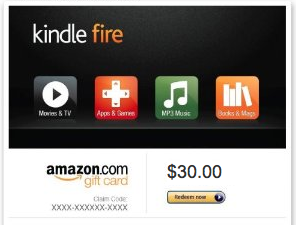 Kindle Fire Giftcard