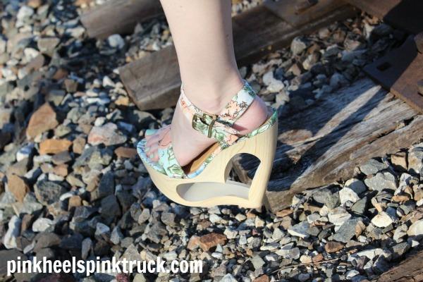 Shoe Dazzle Heart-shaped Wedge Sandal