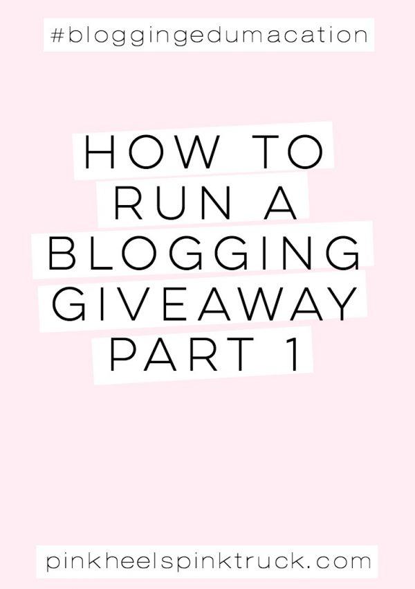 #bloggingedumacation: Blog Giveaway Rules Part 1