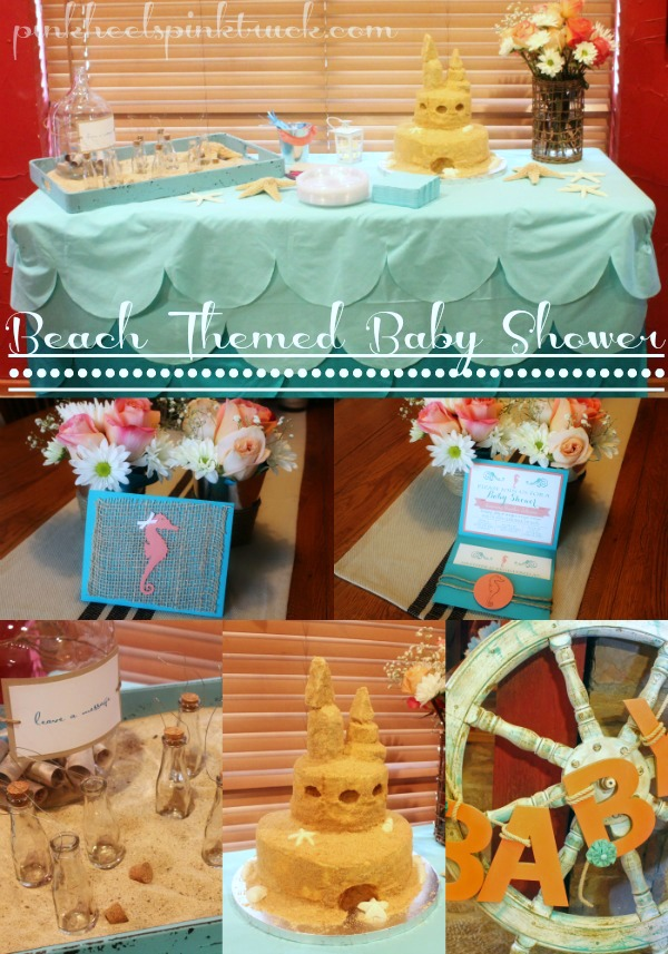 Beach Themed Baby Shower Collage