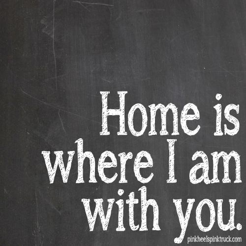 Home is where I am with you
