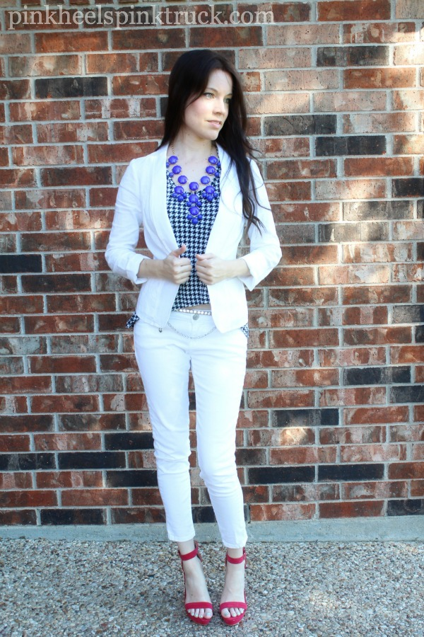 White and Houndstooth 1