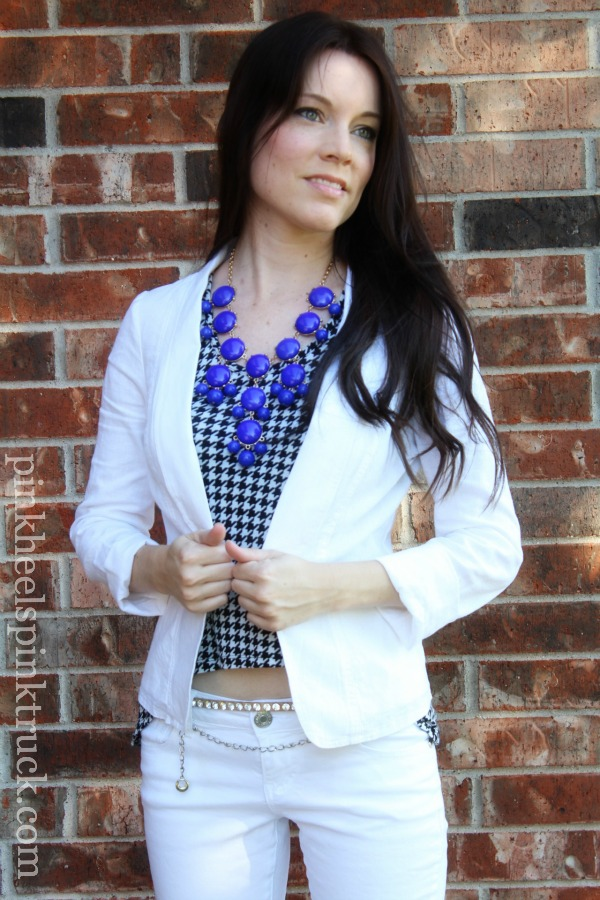 White and Houndstooth 2
