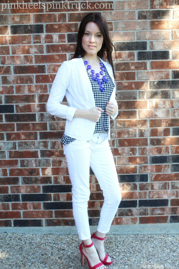 White and Houndstooth