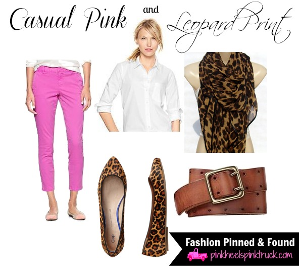 Casual Pink and Leopard Print