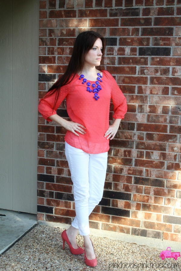 Coral and White 3