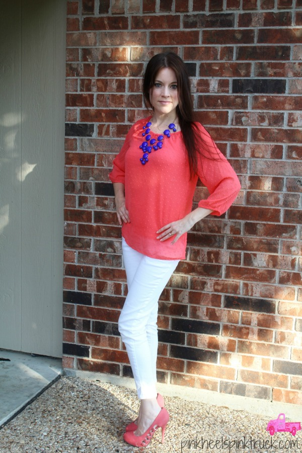 Coral and White 4