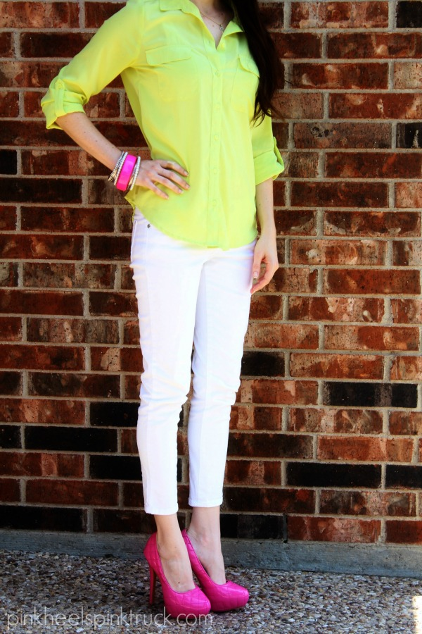 Neon and White
