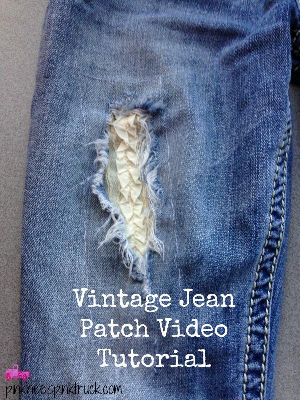 Vintage Jean Patch Tutorial
