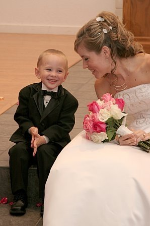 With our cute little ring bearer!