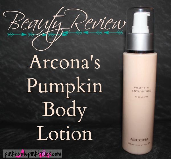 Beauty Review Arcona Pumpkin Body Lotion