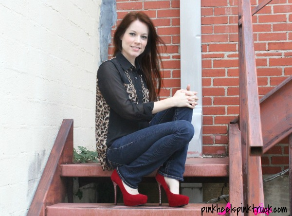 Leopard Print and Red Heels