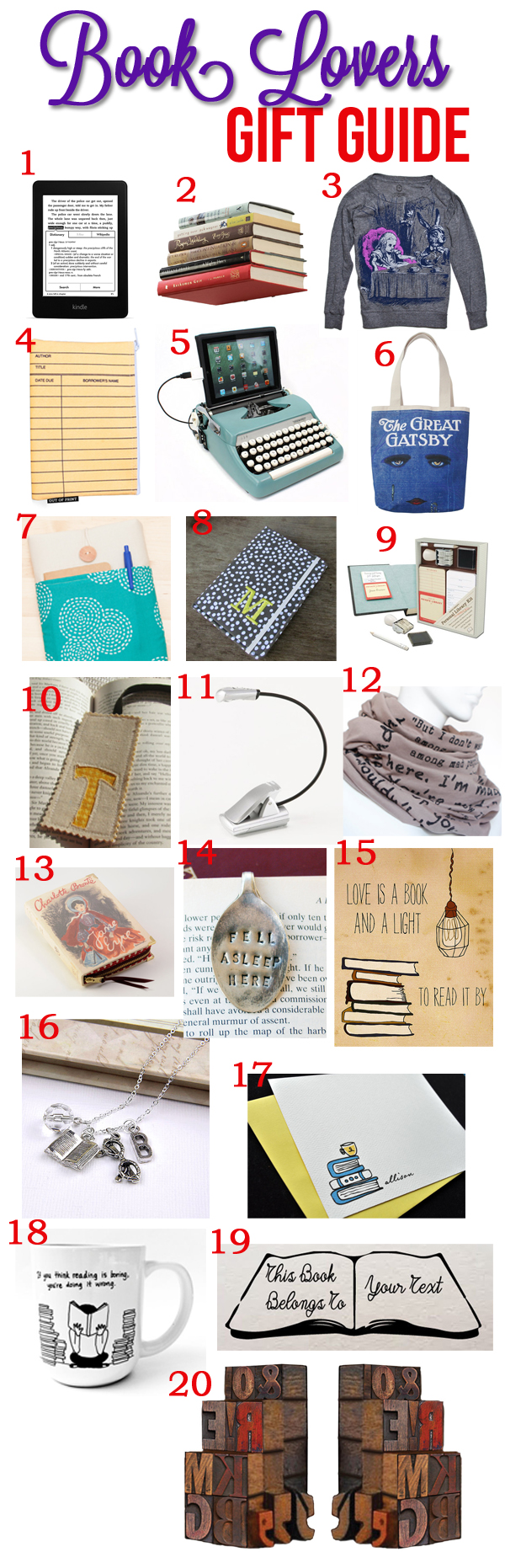 A gift guide for book lovers!