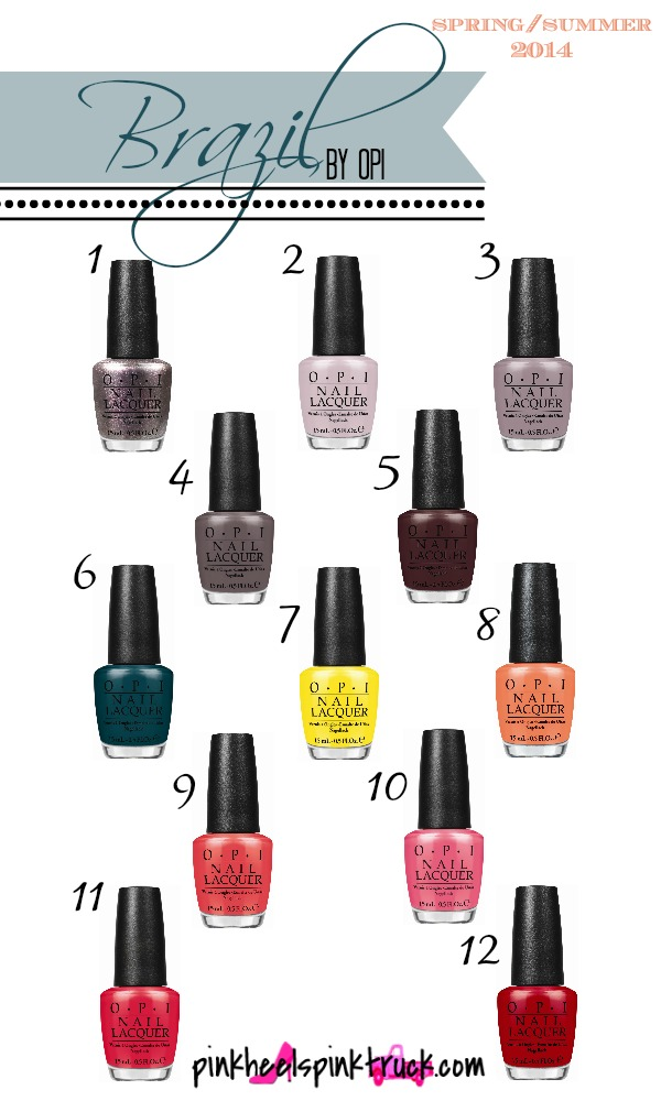 Brazil Collection by OPI release on February 5, 2014. #nails #nailpolish