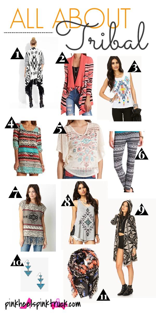 Fashion Trend - Tribal Prints, Aztec Prints, Southwestern Prints