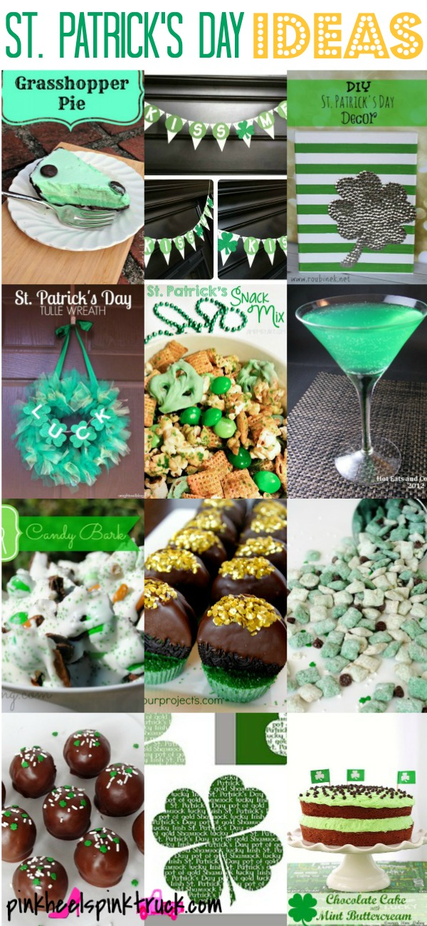 St. Patrick's Day Ideas: Food, Drinks, Recipes, Decor, Crafts and More!