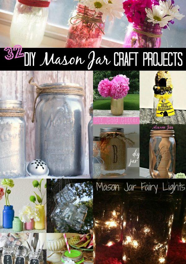 32 DIY Mason Jar Craft Projects