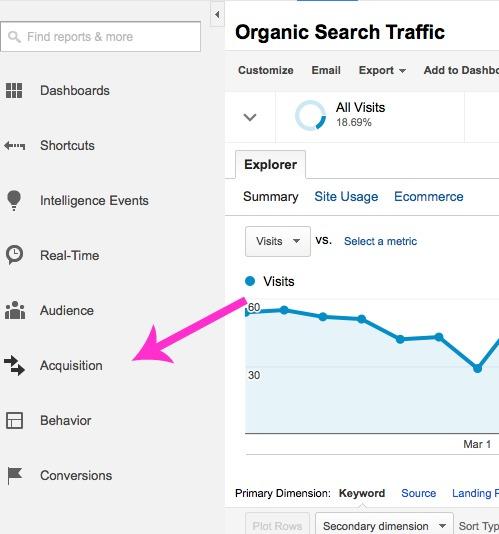 Google Analytics Keywords 1