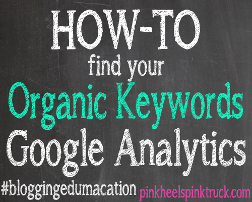 How to find your Organic Keywords on Google Analytics