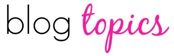 Pink Heels Pink Truck blog topics