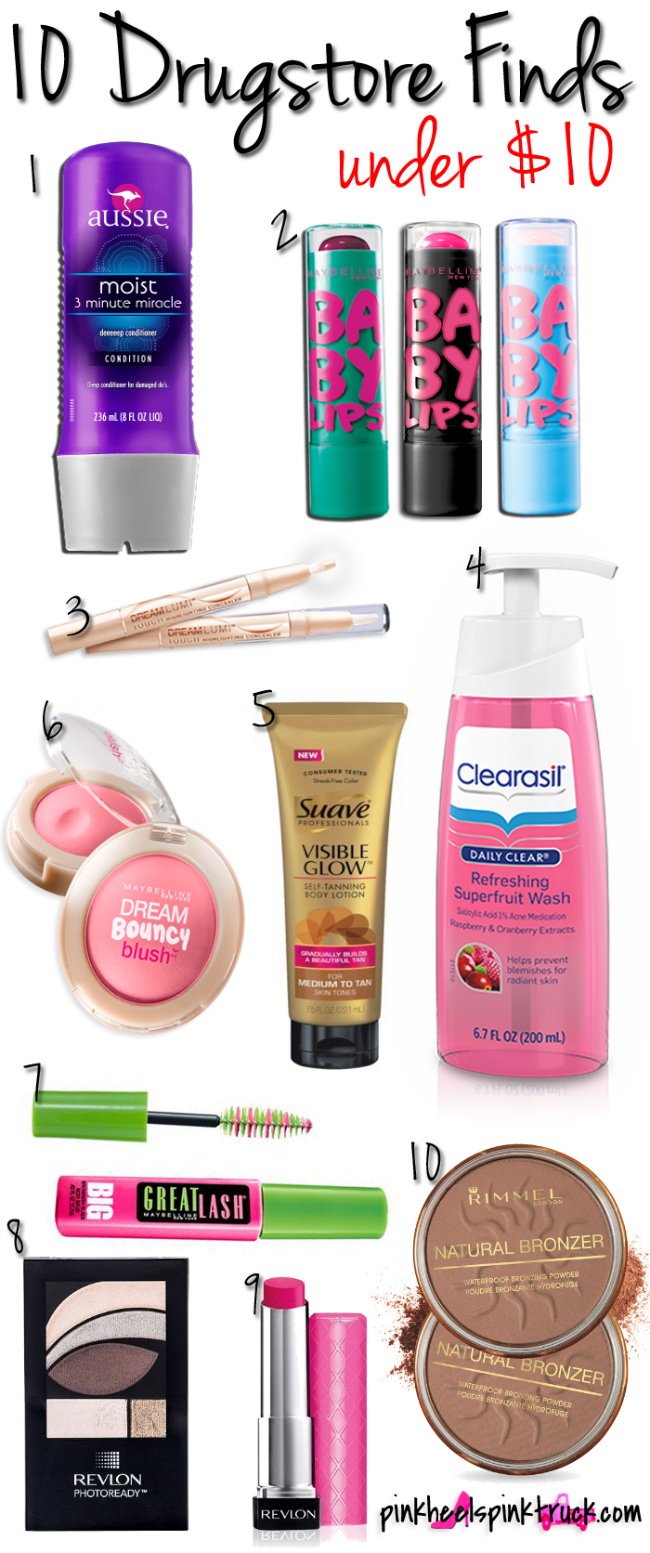 10 Drugstore Finds Under $10! #beautytips #makeup #drugstorebeauty