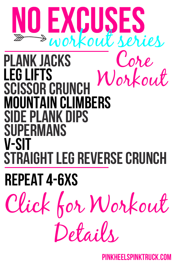 No Excuses Workout Series Core 2