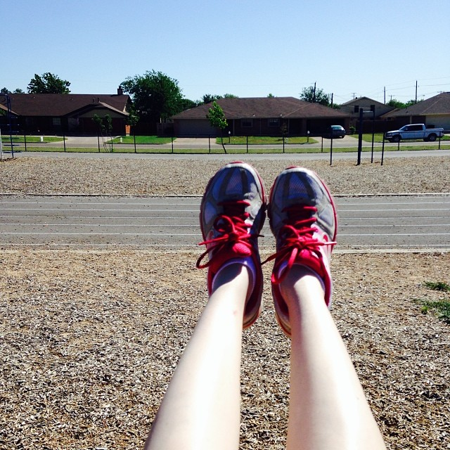 Waiting on my bestie for our #bikiniseries #100bysummer workout...so I decided to hop on the swings.