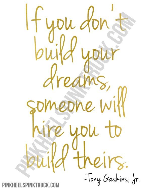 Build Your Dreams Print Watermark