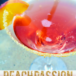 A refreshing summer cocktail!! Try out this Peach Passion Cocktail!