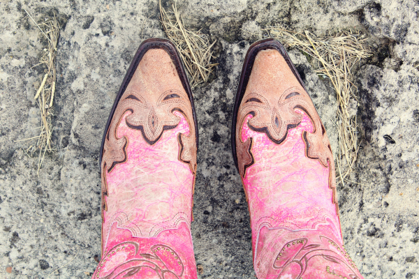 Corral Women's Fluorescent Pink/Cognac Collar and Wing Tip Boot #countryoutfitter #sponsored