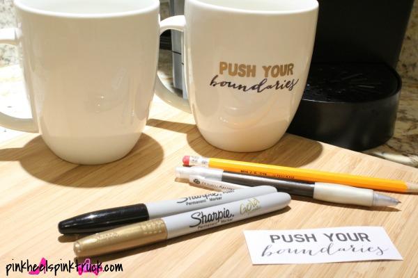 DIY Sharpie Mug Tutorial 2