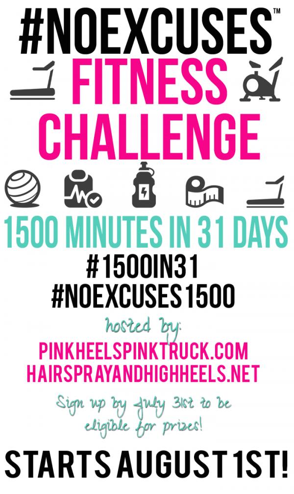 #NOEXCUSES Fitness Challenge AUGUST