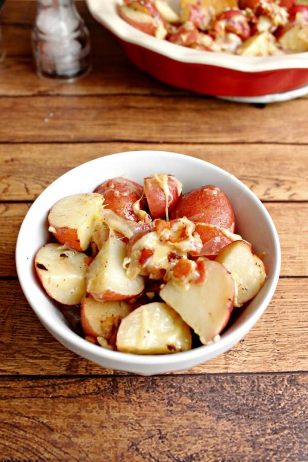 Parmesan & Pancetta Oven Potatoes