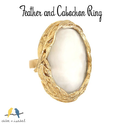 Chloe + Isabel Feather and Cabochon Ring