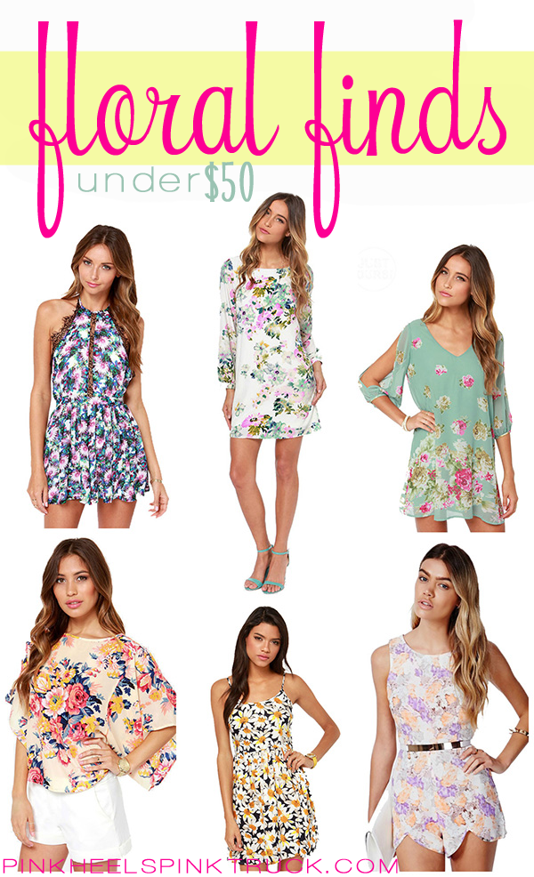 Love Florals? Check out these Floral Fashion Finds for under $50!!