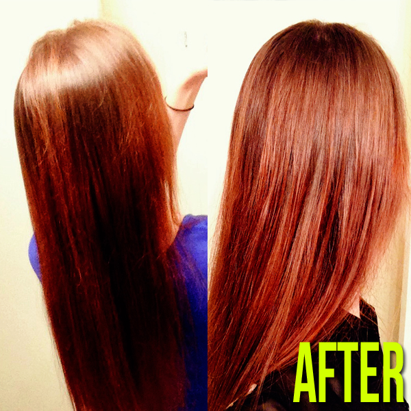 After Pics - After using Aveda Naturally Straight products #avedanaturallystraight