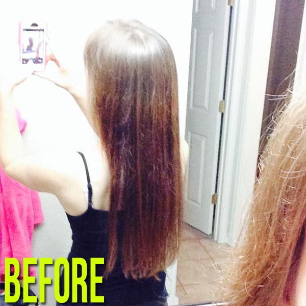 Before Pic - Before using Aveda Naturally Straight Products #avedanaturallystraight