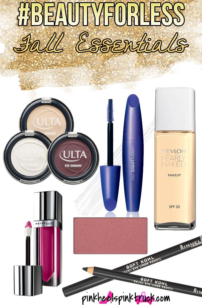 Fall beauty Essentials #BeautyForLess