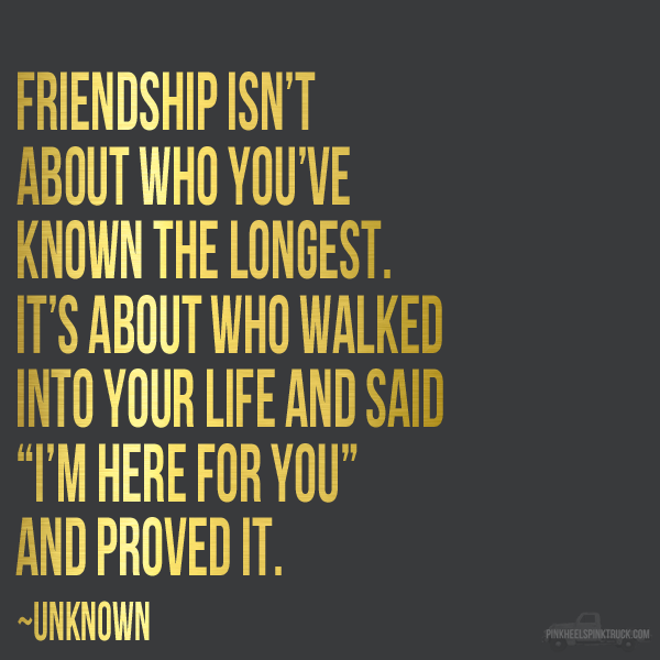 Friendship Quote + Free Printable