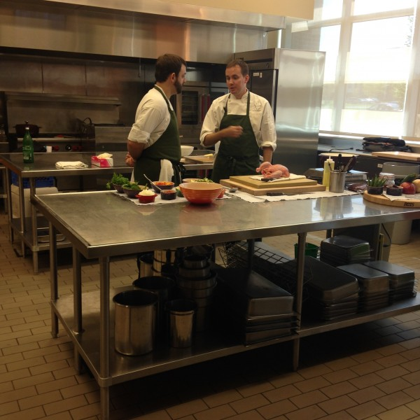 Chef Matthew McClure (The Hive) hanging out before his cooking demo