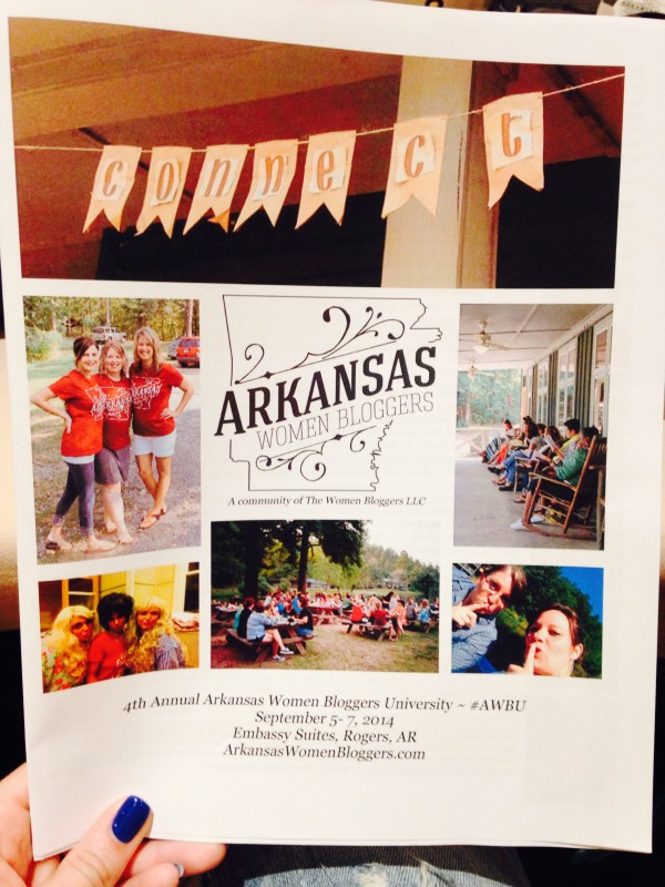 LOVING the Front Cover of the #AWBU Program!!