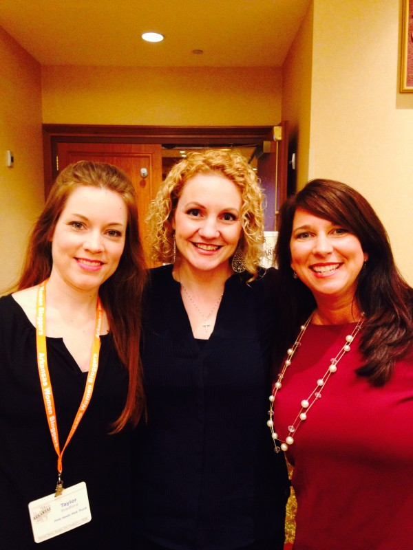 Photo op with Alli Worthington (Keynote Speaker) and Stephanie Buckley (owner of The Women Bloggers, LLC)