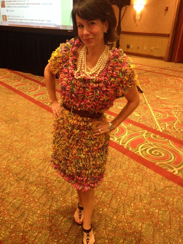 Delta Moxie modeling a Rubberband Dress for Rubberband.com