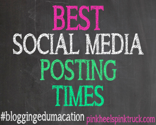 #bloggingedumacation - Best Social Media Posting Times