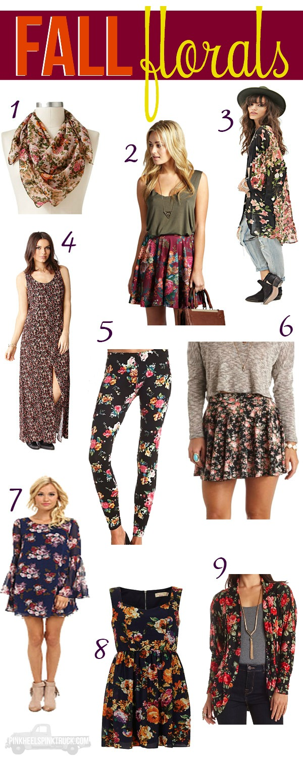Love Florals? Check out these fun Florals for Fall!