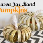 Mason Jar Band Pumpkins