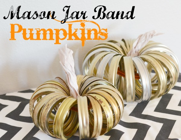 DIY Mason Jar Band Pumpkins